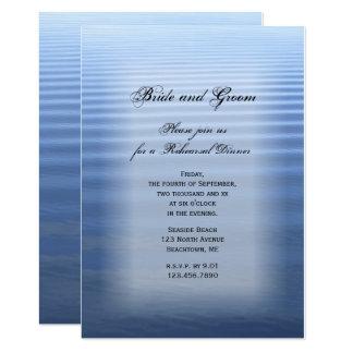 Rippled Water Wedding Rehearsal Dinner Invitation