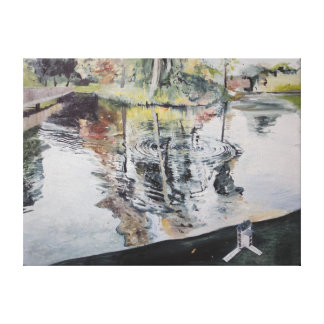 Ripples and Birdhouse Kew Gardens 2014 Canvas Print