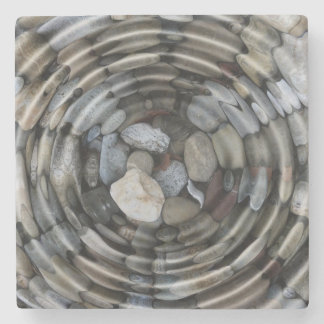Ripples and Pebbles Stone Coaster