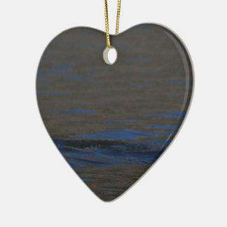 Ripples Ceramic Heart Decoration