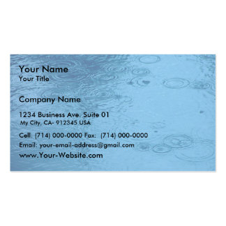 Ripples Form Rain On Puddle Business Card Template