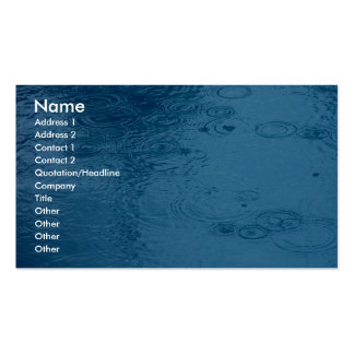 Ripples Form Rain On Puddle Business Card Templates