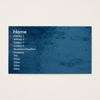 Ripples Form Rain On Puddle Business Card