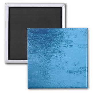 Ripples Form Rain On Puddle Square Magnet