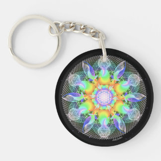Ripples of Awareness/Tri-umphant Double-Sided Round Acrylic Key Ring