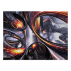 Rippling Fantasy Abstract Poster