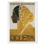 Riquetta Vintage Ad Card