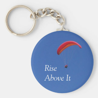 'Rise Above It' Paragliding Keychain