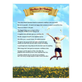 Rise Above Life's Challenges-humor, hope & courage Postcard