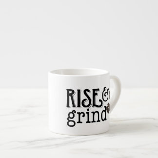 Rise and Grind Coffee Lovers Espresso Mug
