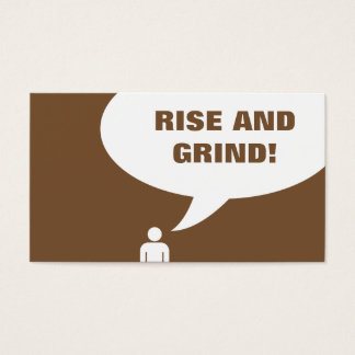 rise and grind coffee punch card