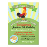 Rise and Shine Breakfast Birthday Party Invitation