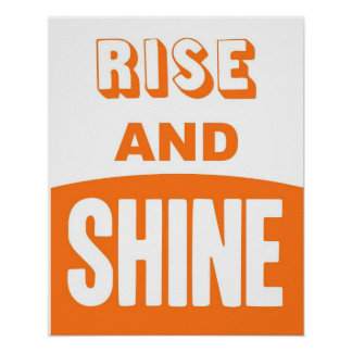Rise and Shine pumpkin orange print