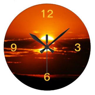 Rise And Shine Sunrise Large Clock