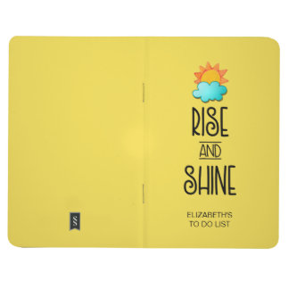 Rise and Shine Typography With Sun and Cloud Journal