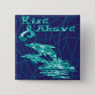 Rise Dolphins 15 Cm Square Badge