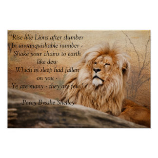 """Rise like Lions"" Poster"