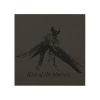 Rise of the phoenix wood wall art