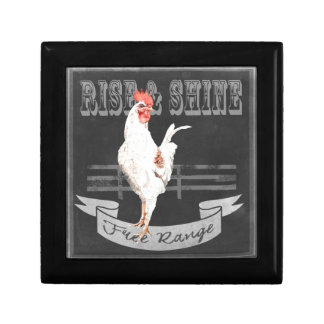 Rise & Shine Rooster Small Square Gift Box