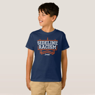RISE Sideline Racism T-shirt kids' navy/orange