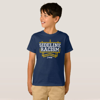 RISE Sideline Racism T-shirt kids' navy/yellow
