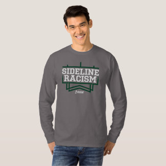 RISE Sideline Racism T-shirt men's gray/green