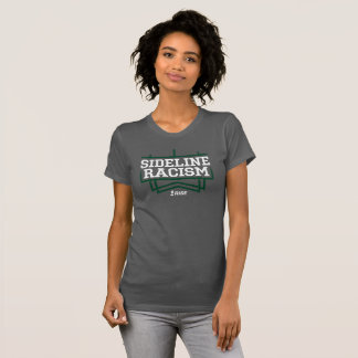 RISE Sideline Racism T-shirt women's gray/green