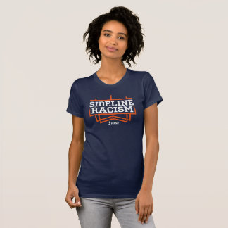 RISE Sideline Racism T-shirt women's navy/orange