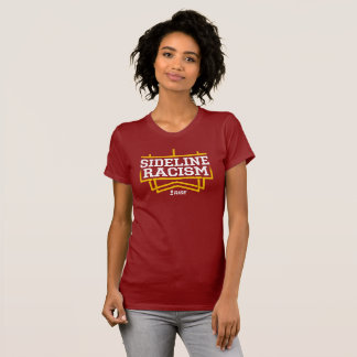 RISE Sideline Racism T-shirt women's red/yellow