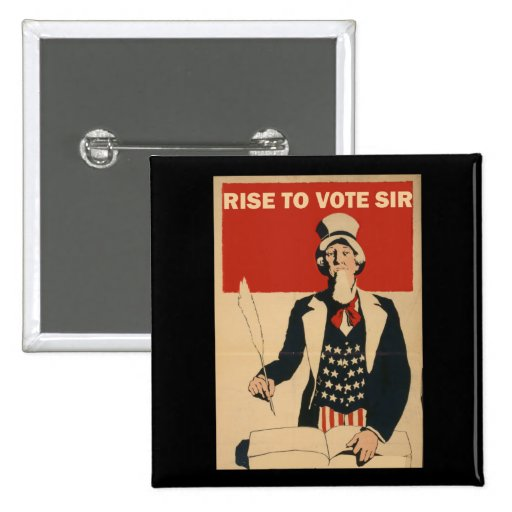 RISE TO VOTE SIR PINS