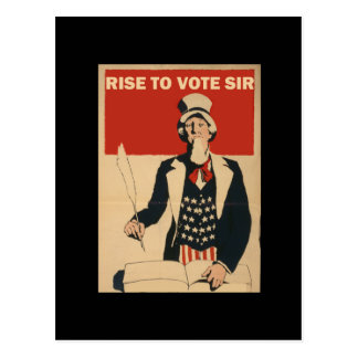RISE TO VOTE SIR POSTCARD