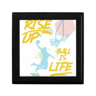 Rise Up. Ball Is Life. Basketball Baller Coach Gift Box