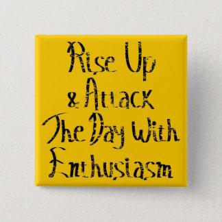 Rise Up Motivation 15 Cm Square Badge