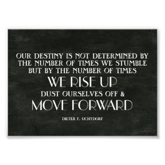 Rise Up & Move Forward Inspirational Quote Photo