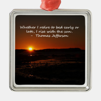 Rise With The Sun Christmas Ornament