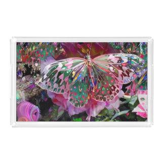 Rising Dawn Butterfly Acrylic Tray