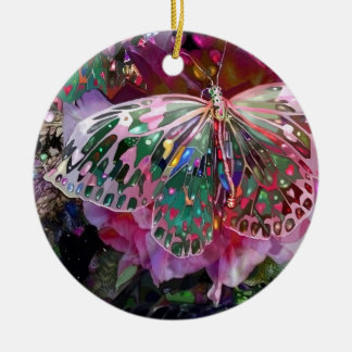 Rising Dawn Butterfly Christmas Ornament