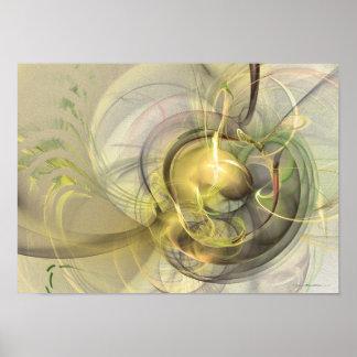 Rising - fractal art poster