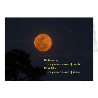 Rising Full Moon Be Noble Greeting Card