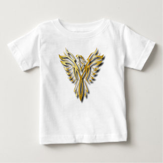 Rising Golden Phoenix Gold Flames With Shadows Baby T-Shirt
