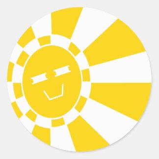 Rising Happy American REMIX Round Sticker