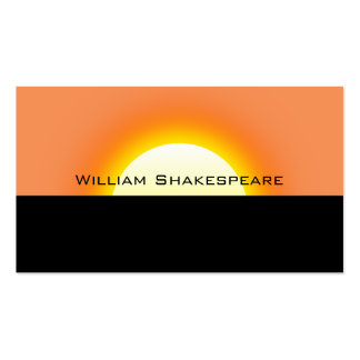 Rising or Setting Sun Pack Of Standard Business Cards