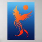 Rising Phoenix in Flames Poster