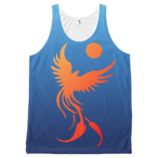 Rising Phoenix in Flames Top All-Over Print Tank Top
