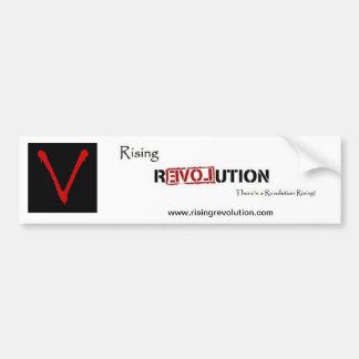 Rising Revolution Car Bumper Sticker