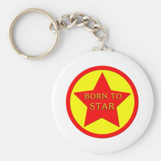 Rising Star Basic Round Button Key Ring
