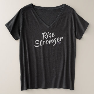 Rising Strong 2018 Plus Size V-Neck T-Shirt