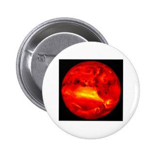 rising sun 6 cm round badge