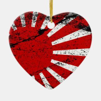 Rising Sun Ceramic Heart Decoration