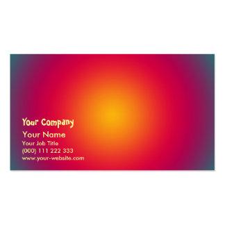 Rising Sun color harmony Business Card Template